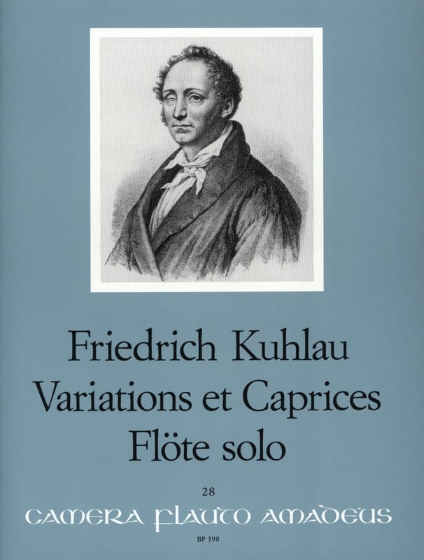 Friedrich Kuhlau - Variations and Caprices op. 10 - Solo flute - Partition - di-arezzo.com