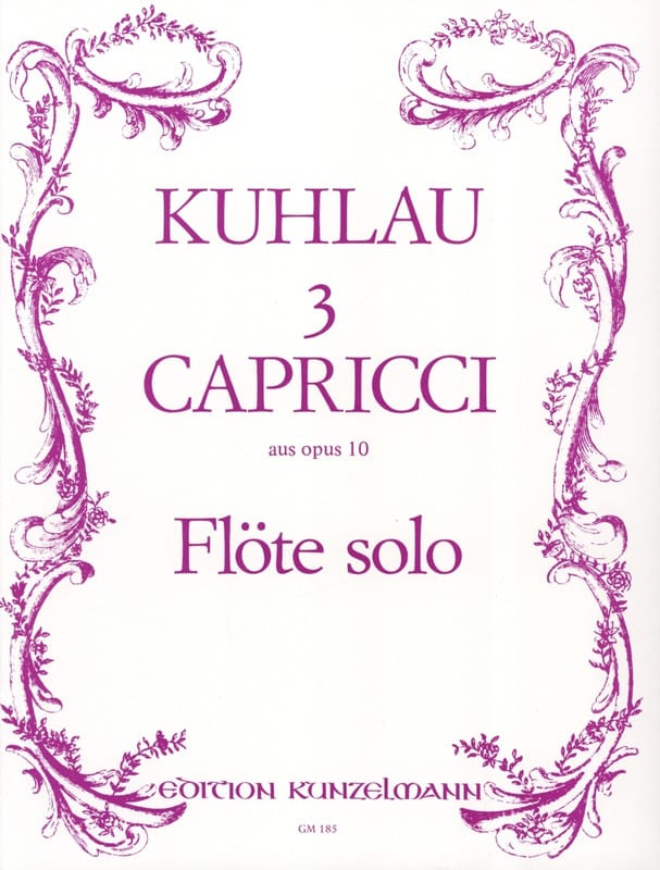 Friedrich Kuhlau - 3 Capricci aus op. 10 - Solo flute - Partition - di-arezzo.com