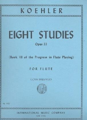 8 Studie op. 33 - Book 3 - Ernesto KÖHLER - laflutedepan.com