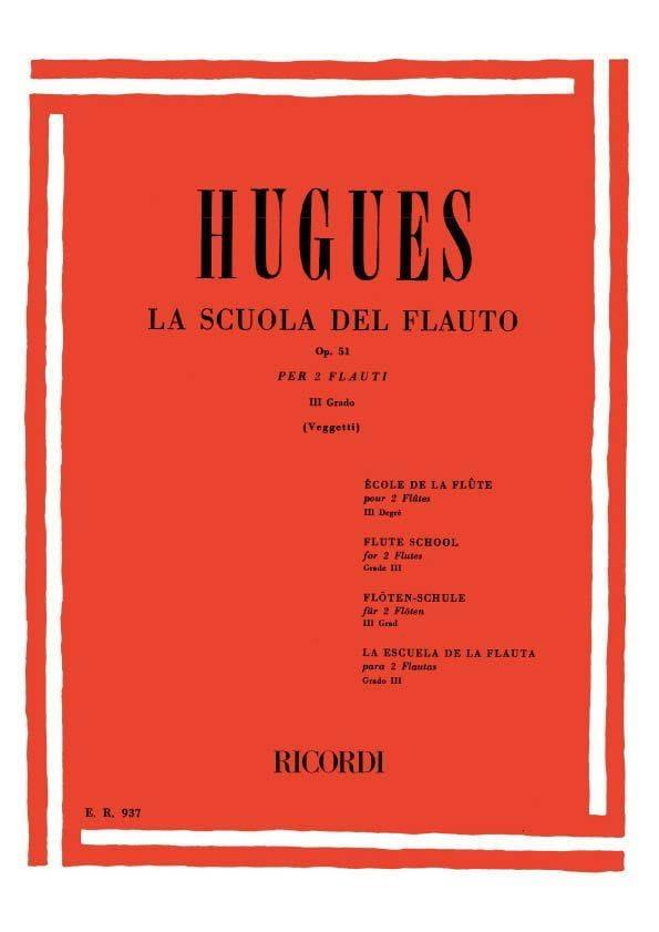 Louis Hugues - School of the flute op. 51 - Volume 3 - Partition - di-arezzo.com