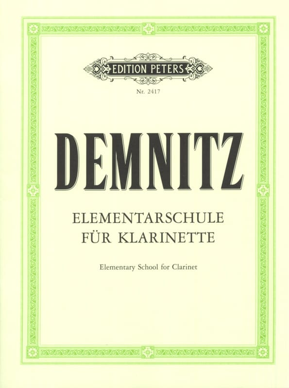 Friedrich Demnitz - Elementary Method for Clarinet - Partition - di-arezzo.co.uk