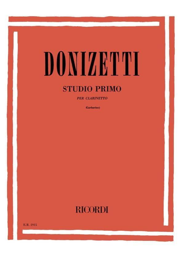 Studio primo -Clarinetto - DONIZETTI - Partition - laflutedepan.com