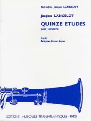 Jacques Lancelot - 15 Etudes - Clarinet - Partition - di-arezzo.co.uk