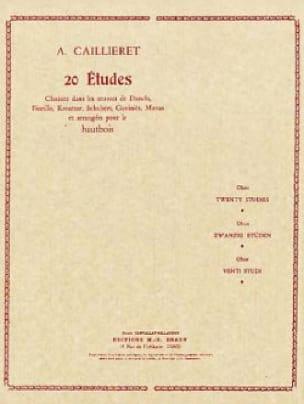 André Caillieret - 20 Etudes - Partition - di-arezzo.fr