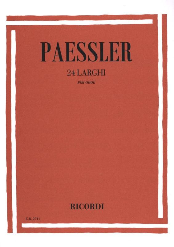 24 Larghi per oboe - Carlo Paessler - Partition - laflutedepan.com