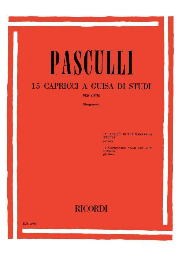 15 Capricci a guisa di studi - Antonino Pasculli - laflutedepan.com