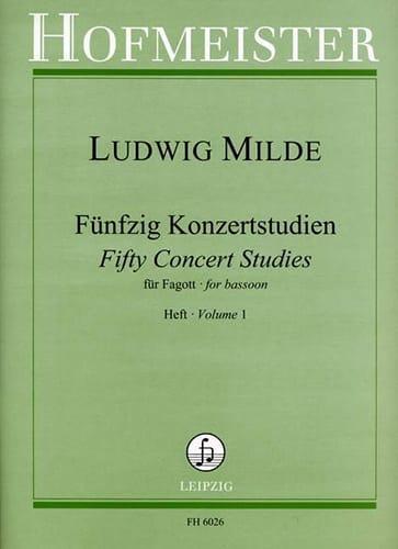 Ludwig Milde - 50 Konzertstudien - Heft 1 - Partition - di-arezzo.es
