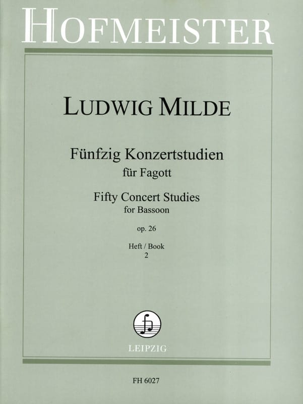 Ludwig Milde - 50 Konzertstudien - Heft 2 - Partition - di-arezzo.co.uk