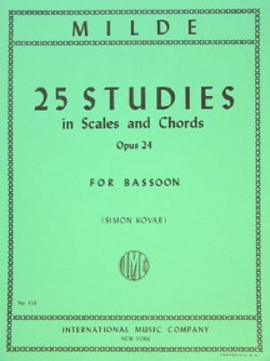 Ludwig Milde - 25 Studies in Scales and Chords op. 24 - Partition - di-arezzo.co.uk