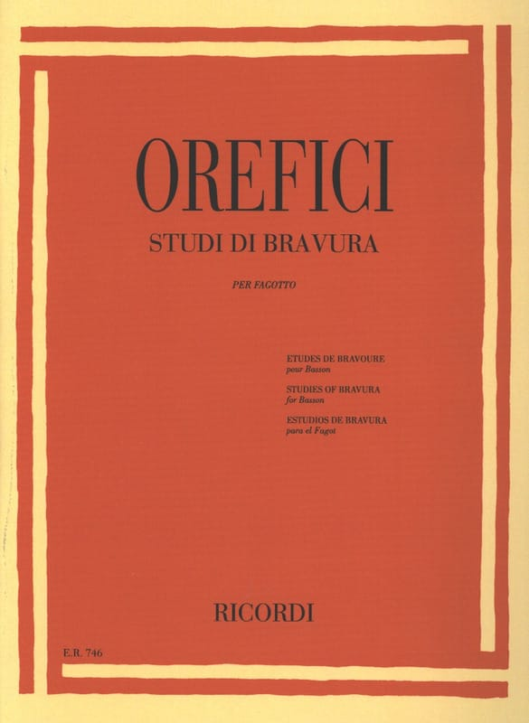 Alberto Orefici - Studi di Bravura - Partition - di-arezzo.com