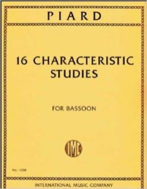 Marius Piard - 16 Characteristic Studies - Partition - di-arezzo.co.uk