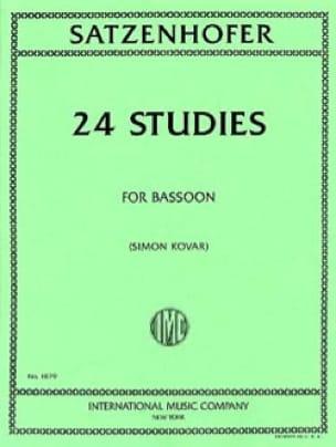 24 études - Satzenhofer - Partition - Basson - laflutedepan.com