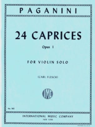 Niccolò Paganini - 24 Caprices op. 1 Flesch - Partition - di-arezzo.co.uk