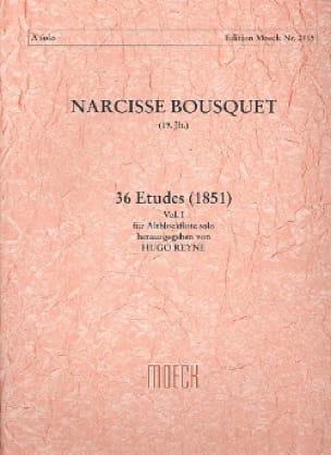 36 Etudes 1851 -Volume 1 - Narcisse Bousquet - laflutedepan.com