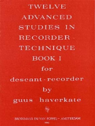 12 Advanced Studies In Recorder Technique Volume 1 - laflutedepan.com