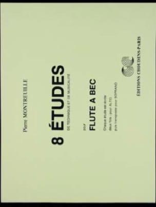 8 Etudes - Flûte à bec - Pierre Montreuille - laflutedepan.com