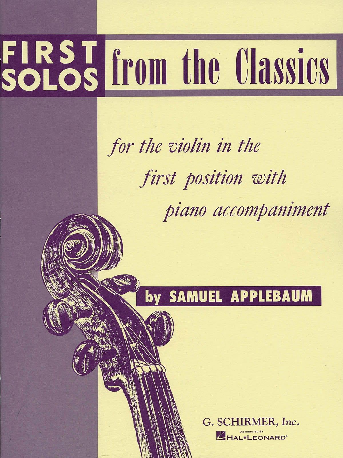 First solos from the classics - Samuel Applebaum - laflutedepan.com