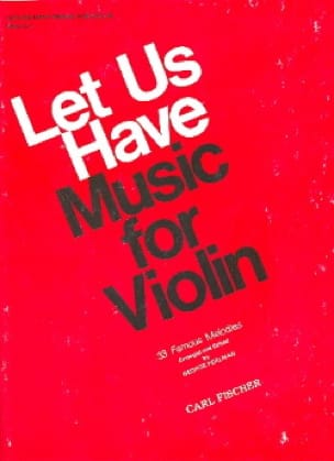 George Perlman - Let us have music for Violin, Volume 1 - Partition - di-arezzo.co.uk