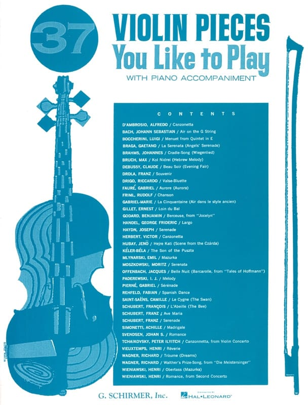 - 37 Violin Pieces You Like To Play - Partition - di-arezzo.com