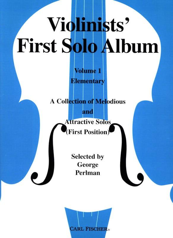 George Perlman - Violinists' First Solo Album Volume 1 - Partition - di-arezzo.co.uk