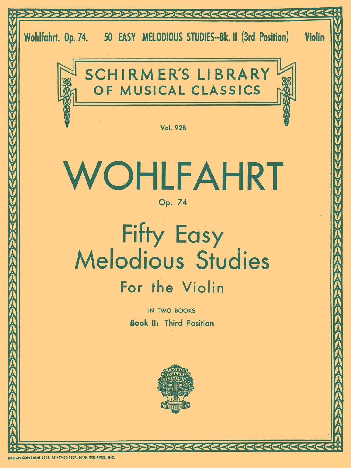 Franz Wohlfahrt - 50 Easy melodious studies op. 74, Volume 2 - Partition - di-arezzo.co.uk