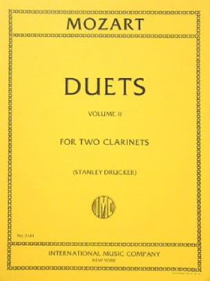 MOZART - 6 Duets - Volume 2 - 2 Clarinets - Partition - di-arezzo.co.uk