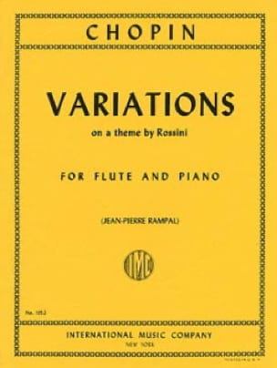 CHOPIN - Variations on a theme by Rossini - Piano flute - Partition - di-arezzo.com