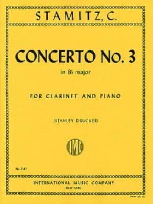 Concerto n° 3 Bb major -Clarinet piano - STAMITZ - laflutedepan.com