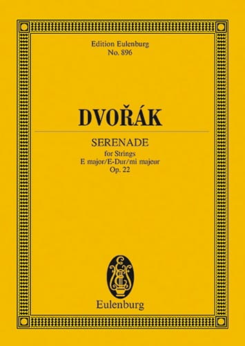 DVORAK - Serenade E-Dur, Op. 22 B 52 - Partition - di-arezzo.co.uk