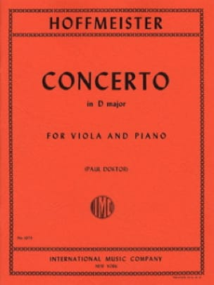 Franz Anton Hoffmeister - Konzert in D-Dur - Viola - Partition - di-arezzo.de