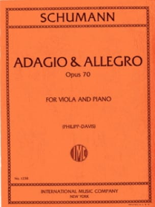 SCHUMANN - Adagio - Allegro op. 70 - Partition - di-arezzo.es
