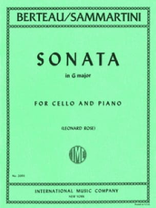 Sonata in G major - SAMMARTINI - Partition - laflutedepan.com