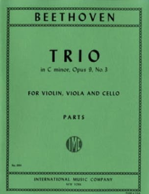 BEETHOVEN - Trio op. 9 n ° 3 C minor - Parts - Partition - di-arezzo.co.uk