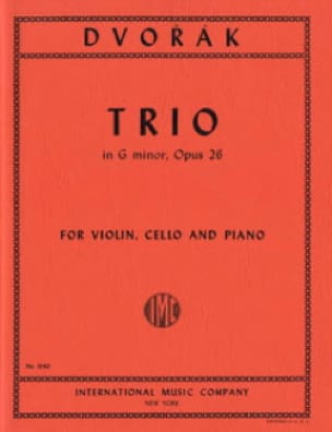 DVORAK - Trio G minor op. 26 - Parts - Partition - di-arezzo.fr