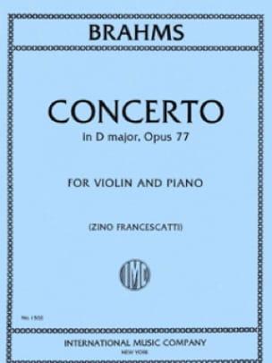 BRAHMS - Violin Concerto Op. 77 in D Major - Partition - di-arezzo.com