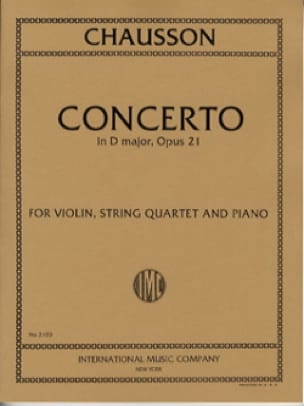 Concerto in D major op. 21 -Violin, string quartet piano - laflutedepan.com
