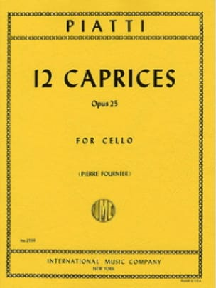 12 Caprices op. 25 - Alfredo C. Piatti - Partition - laflutedepan.com