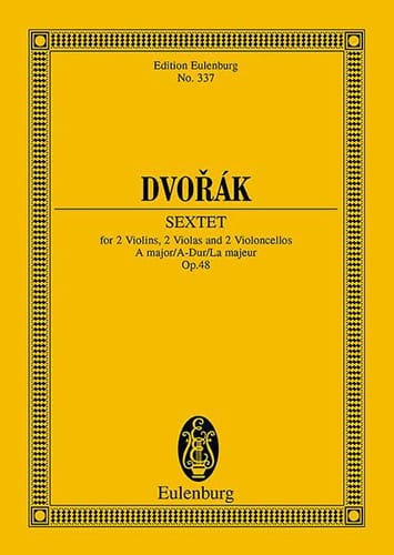 Sextuor à Cordes, op. 48 - Conducteur - DVORAK - laflutedepan.com