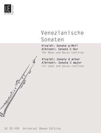 Venezianische Sonaten - Oboe u. Bc - VIVALDI - laflutedepan.com