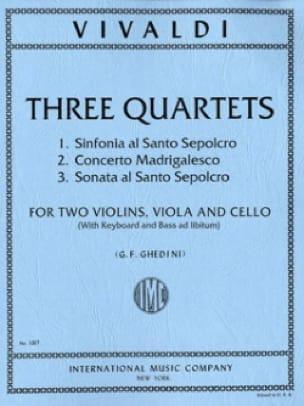VIVALDI - 3 Cuartetos - Piezas - Partition - di-arezzo.es