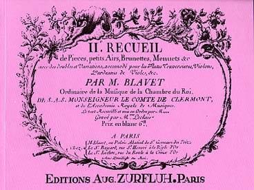 Recueil de Pièces Volume 2 - Michel Blavet - laflutedepan.com
