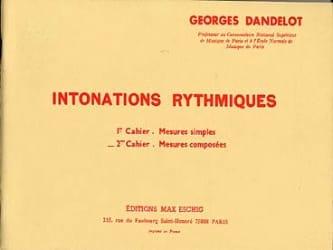 Intonations Rythmiques - 2ème cahier - DANDELOT - laflutedepan.com