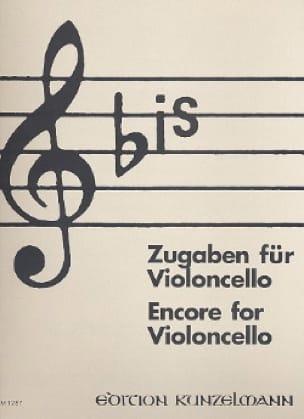 Werner Thomas-Mifune - Red: Zugaben - Cello - Partition - di-arezzo.com