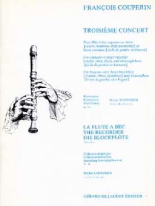 Troisième Concert - Flûte à bec et bc - COUPERIN - laflutedepan.com