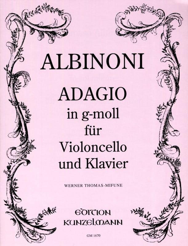 Adagio in g-moll - ALBINONI - Partition - laflutedepan.com