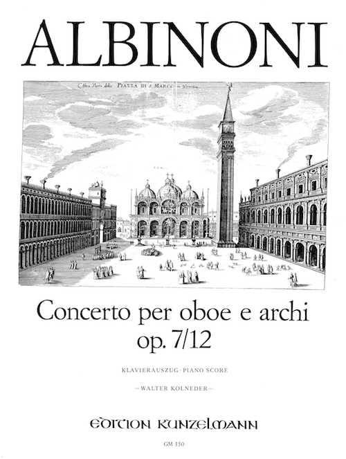 Tomaso Albinoni - Concerto per oboe op. 7 n ° 12 - Partition - di-arezzo.com
