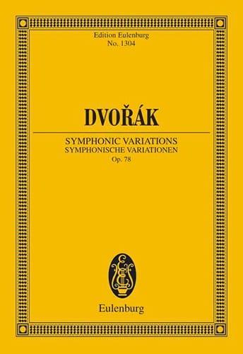 Sinfonische Variationen, op. 78 B 70 - DVORAK - laflutedepan.com