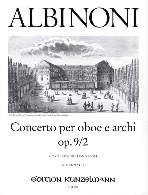Tomaso Albinoni - Concerto per oboe op. 9 n ° 2 - Partition - di-arezzo.com