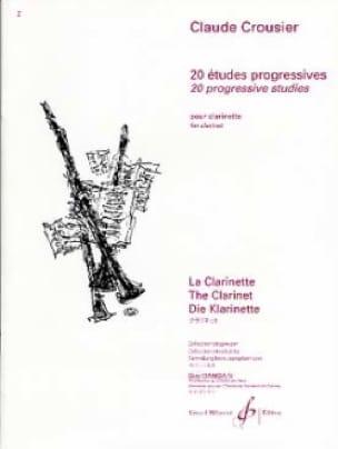 Claude Crousier - 20 Progressive studies - Partition - di-arezzo.co.uk