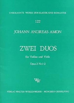 Duette op. 2 n° 1-2 - Johann Andreas Amon - laflutedepan.com